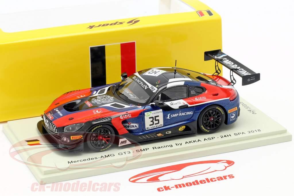 Mercedes-AMG GT3 #35 24h Spa 2018 Bulatov, Meadows, Petrov 1:43 Spark