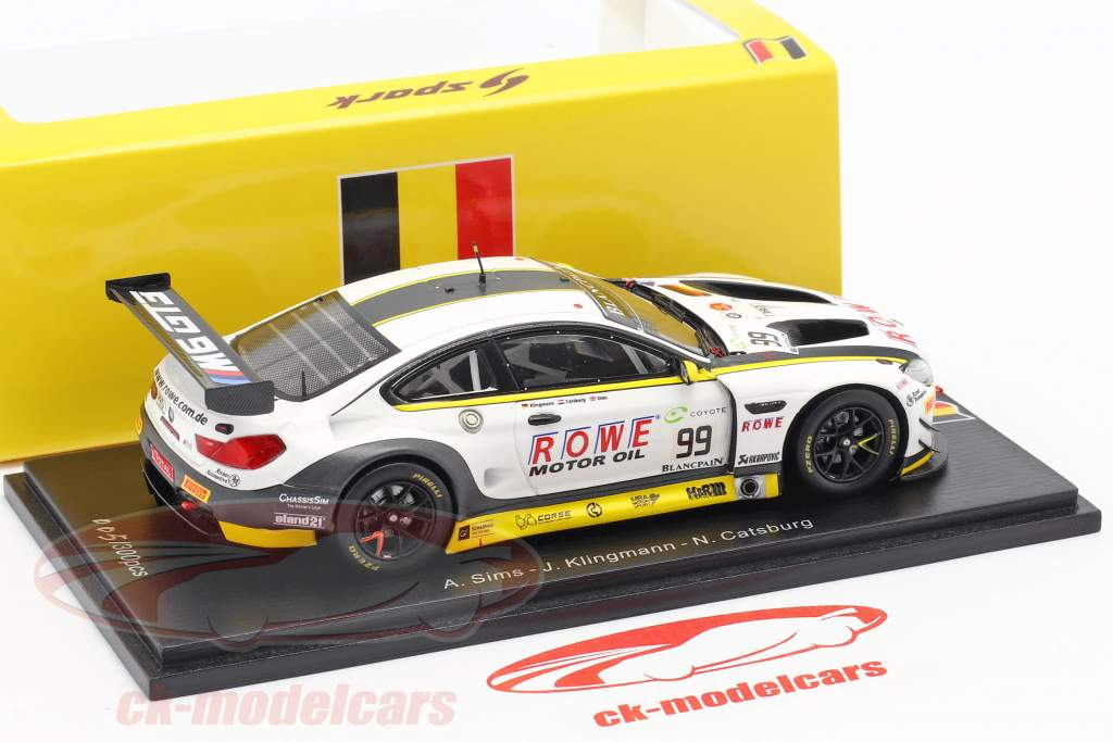 BMW M6 GT3 #99 2e 24h Spa 2018 Catsburg, Klingmann, Sims 1:43 Spark