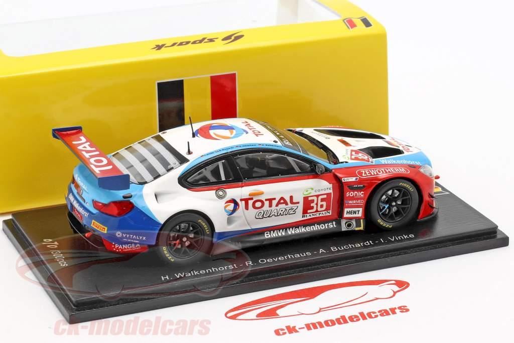 BMW M6 GT3 #36 24h Spa 2018 Buchardt, Oeverhaus, Vinke, Walkenhorst 1:43 Spark