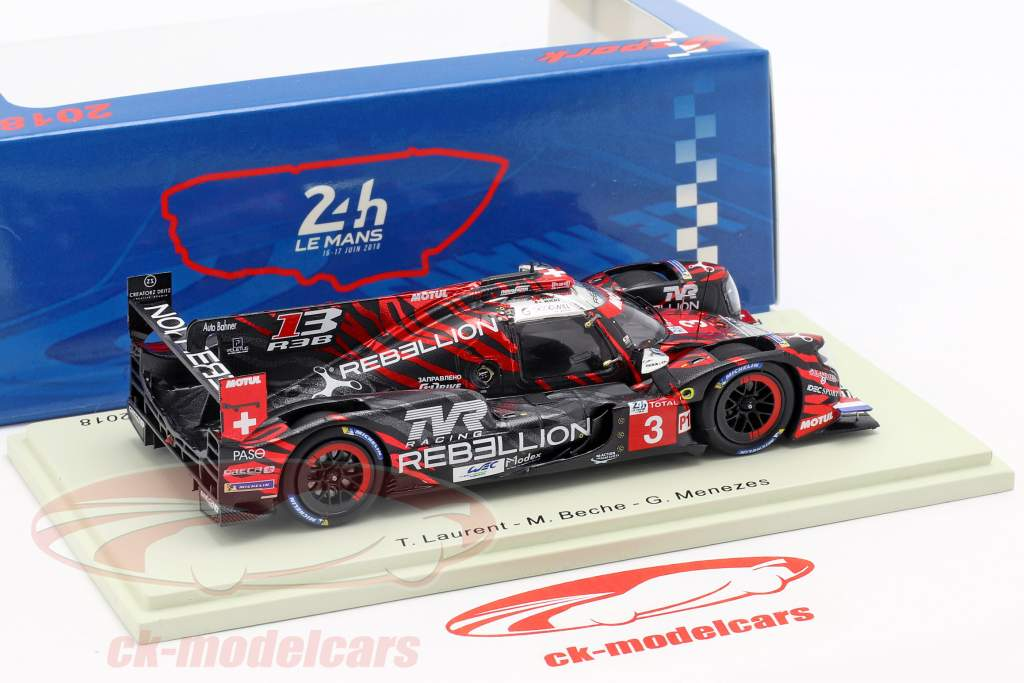 Rebellion R13 #3 tercero 24h LeMans 2018 Menezes, Beche, Laurent 1:43 Spark