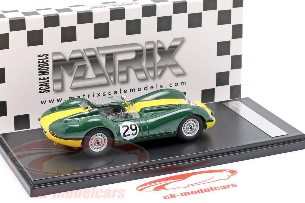 Jaguar Lister #29 Winner Daily Express Sports Car Race 1958 Moss 1:43 Matrix