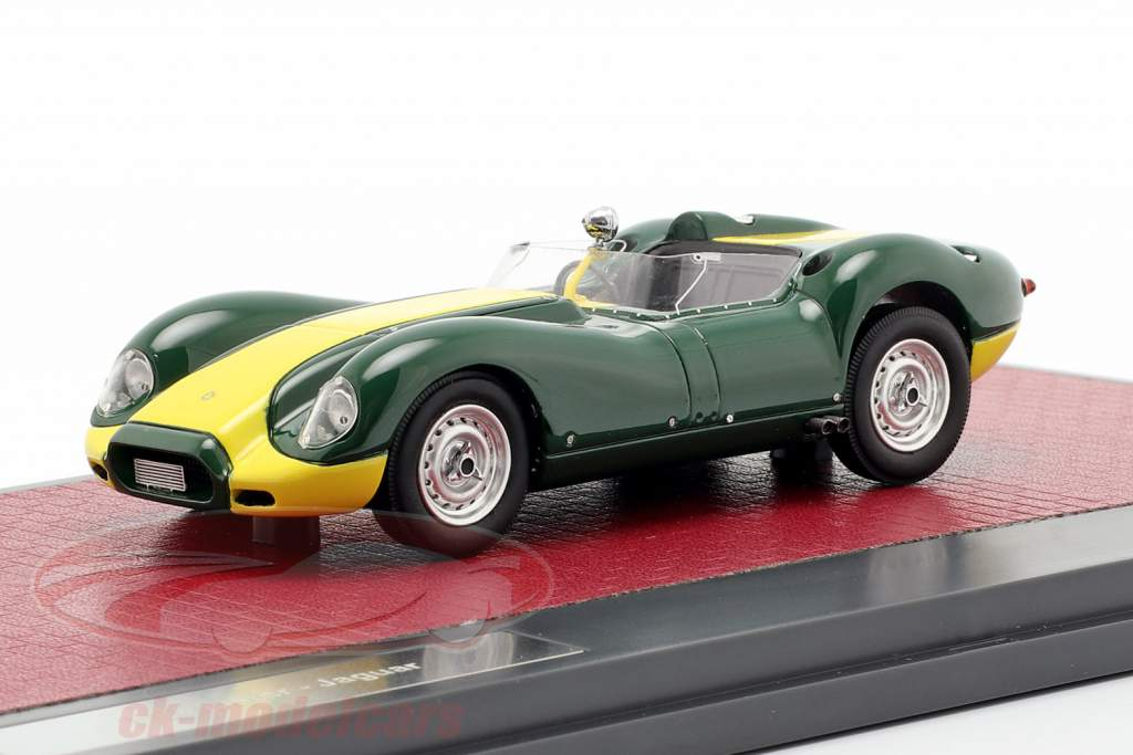 Jaguar Lister Baujahr 1958 grün / gelb 1:43 Matrix