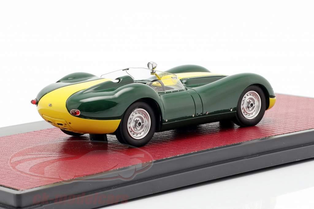 Jaguar Lister ano de construção 1958 verde / amarelo 1:43 Matrix