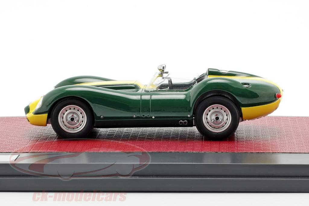 Jaguar Lister année de construction 1958 vert / jaune 1:43 Matrix