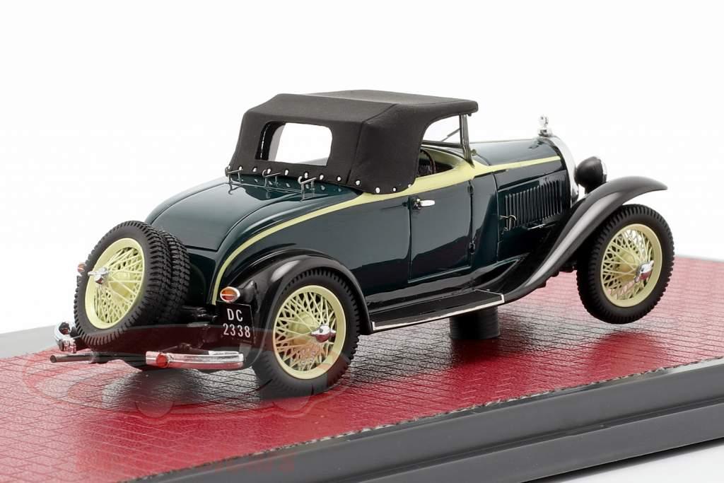Bugatti Type 40 Roadster year 1921 black / yellow 1:43 Matrix
