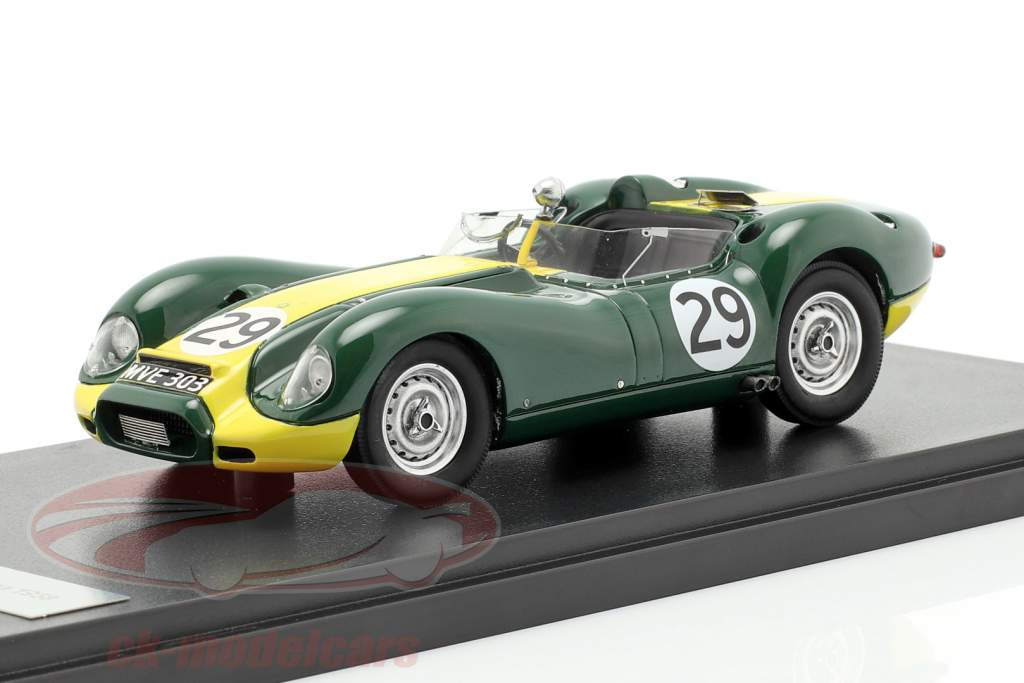 Jaguar Lister #29 ganador Daily Express Sports Car Race 1958 Moss 1:43 Matrix