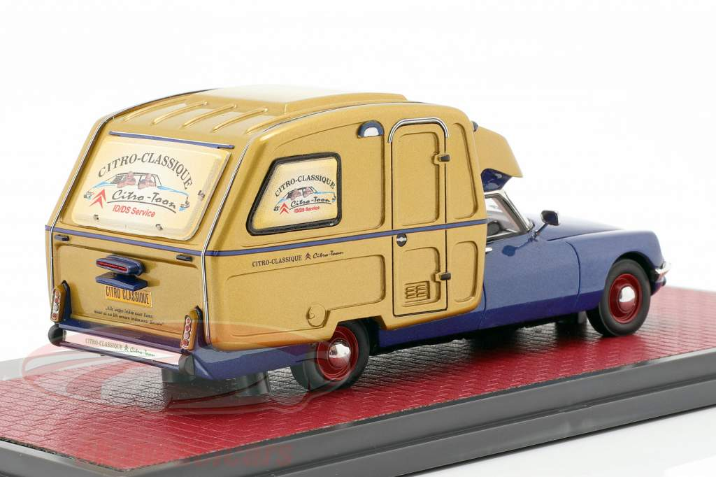 Citroen ID Camper año de construcción 1973 azul metálico / oro 1:43 Matrix