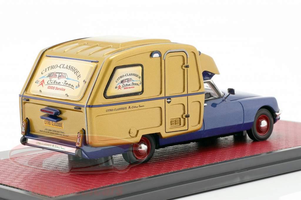 Citroen ID Camper Baujahr 1973 blau metallic / gold 1:43 Matrix