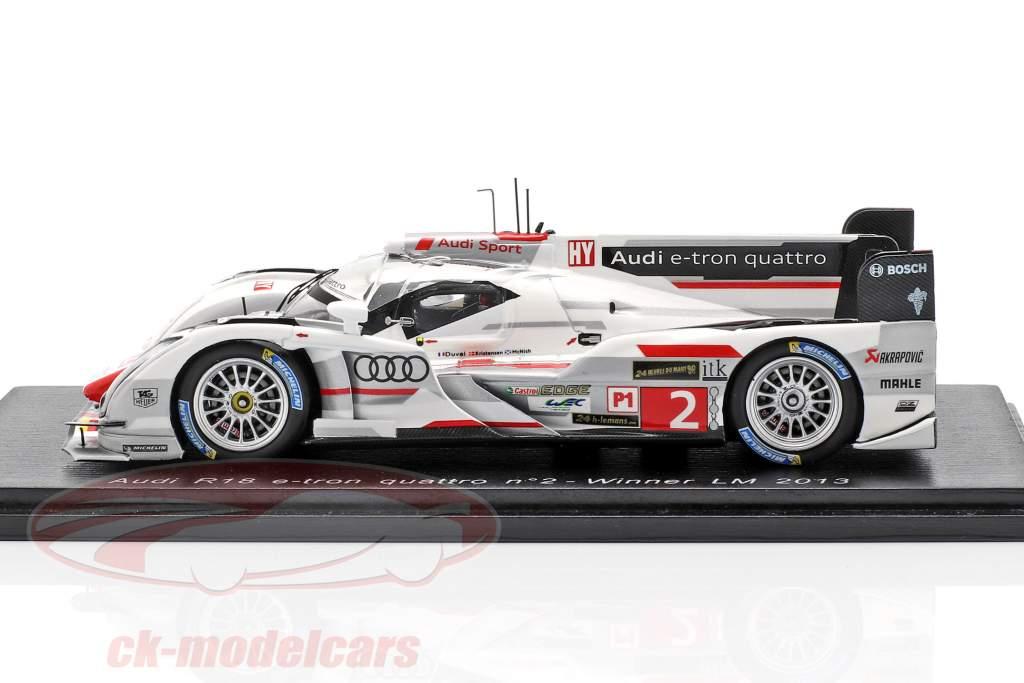 Audi R18 e-tron quattro #2 ganador 24h LeMans 2013 McNish, Kristensen, Duval 1:43 Spark