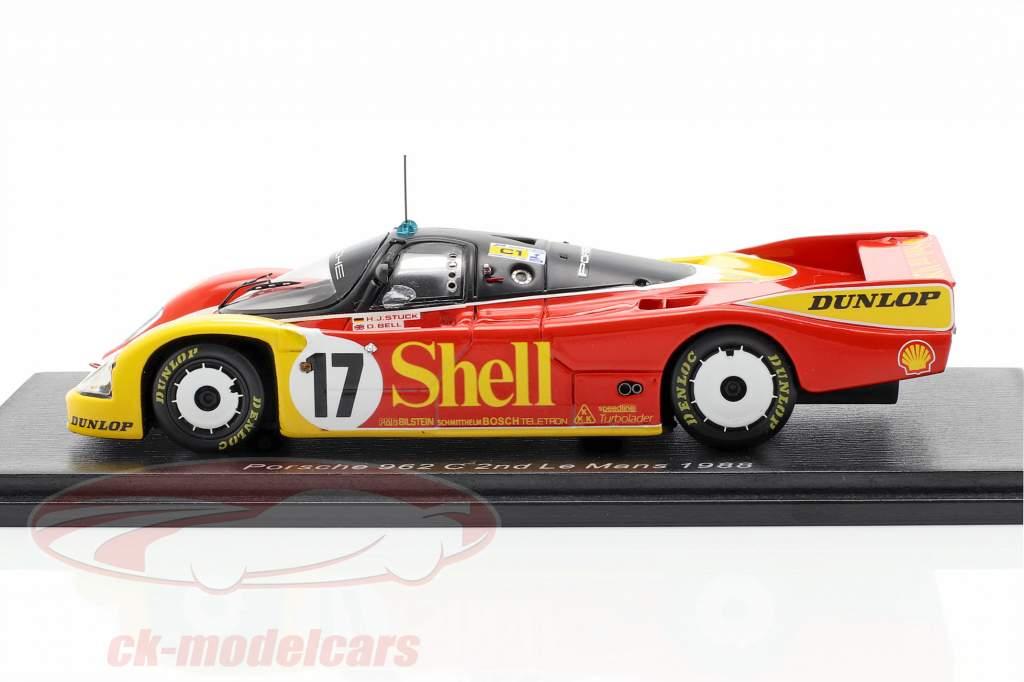 Porsche 962C #17 segundo 24h LeMans 1988 Stuck, Ludwig, Bell 1:43 Spark