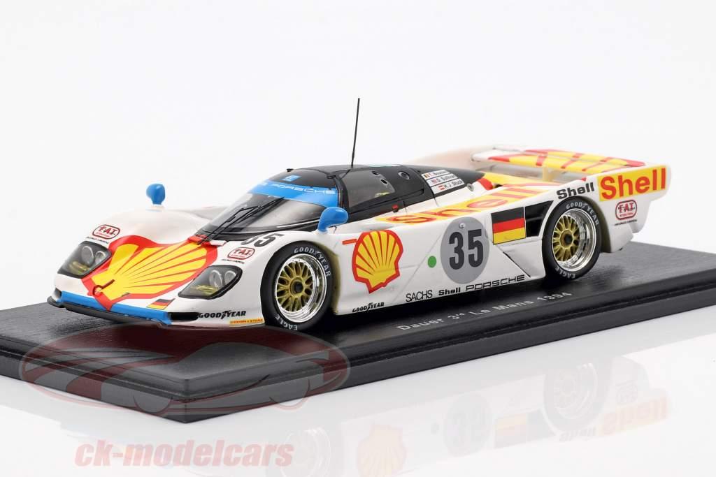 Porsche Dauer 962 GT-LM #35 tercero 24h LeMans 1994 Stuck, Sullivan, Boutsen 1:43 Spark