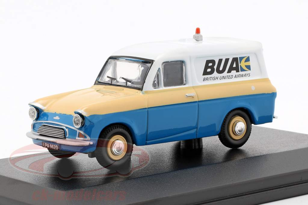 Ford Anglia Van British United Airways azul / creme amarelo / branco 1:43 Oxford