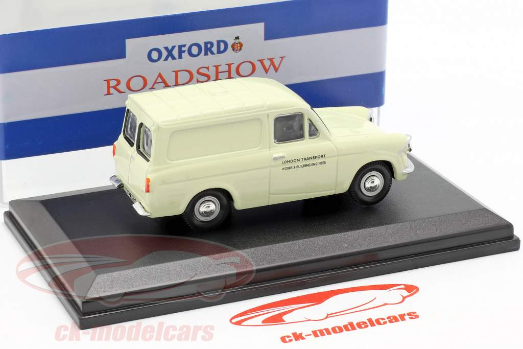 Ford Anglia furgoneta London Transport crema blanco 1:43 Oxford