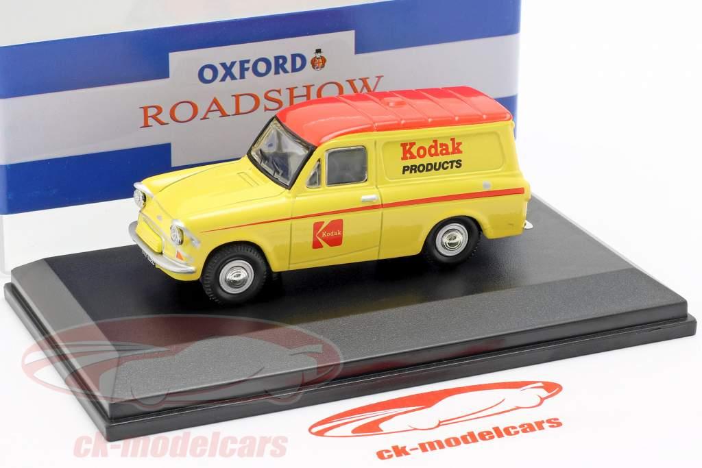 Ford Anglia busje Kodak geel / rood 1:43 Oxford