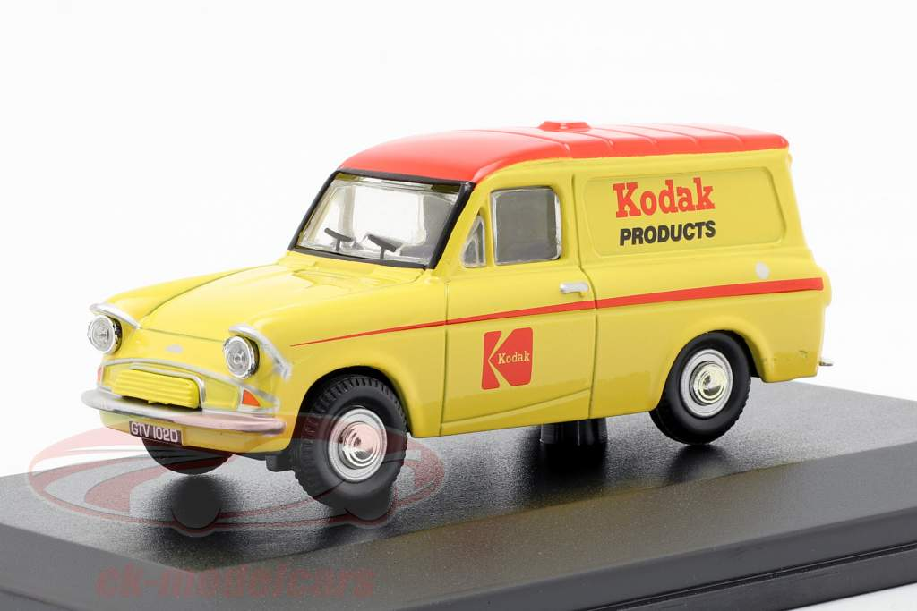 Ford Anglia furgoneta Kodak amarillo / rojo 1:43 Oxford