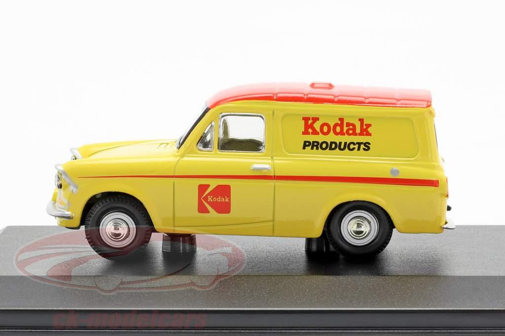 Ford Anglia van Kodak amarelo / vermelho 1:43 Oxford