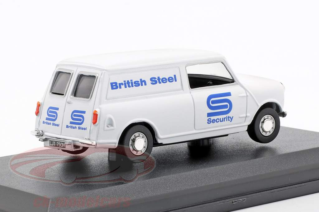 Austin Minivan British Steel Security branco / azul 1:43 Oxford