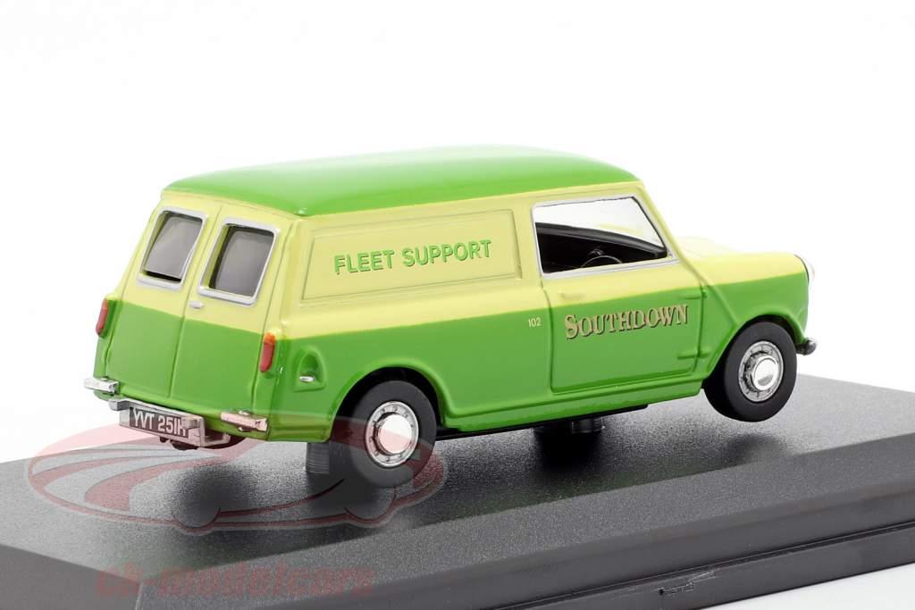 Austin Minivan Southdown Fleet Support grøn / gul 1:43 Oxford
