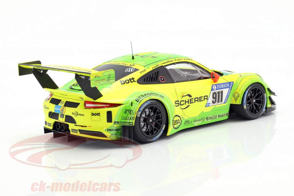 Porsche 911 (991) GT3 R #911 24h Nürburgring 2017 Manthey Racing Grello 1:18 Minichamps