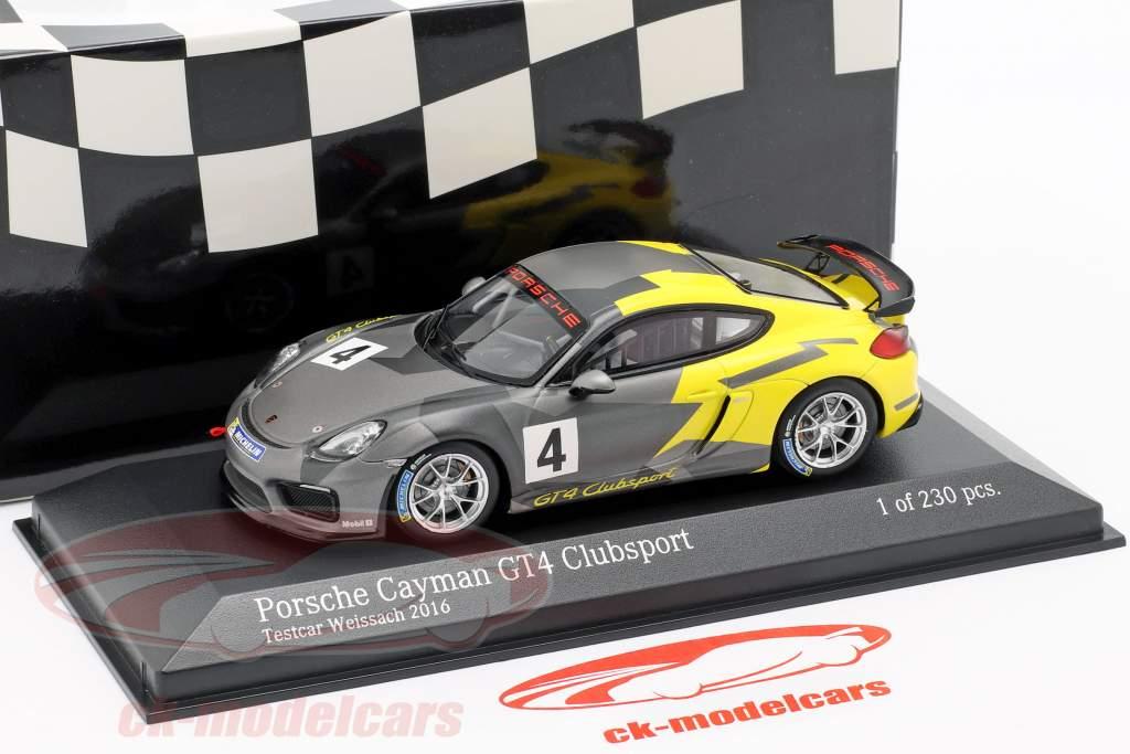 Porsche Cayman GT4 Clubsport #4 Test Car Weissach Package 2016 1:43 Minichamps