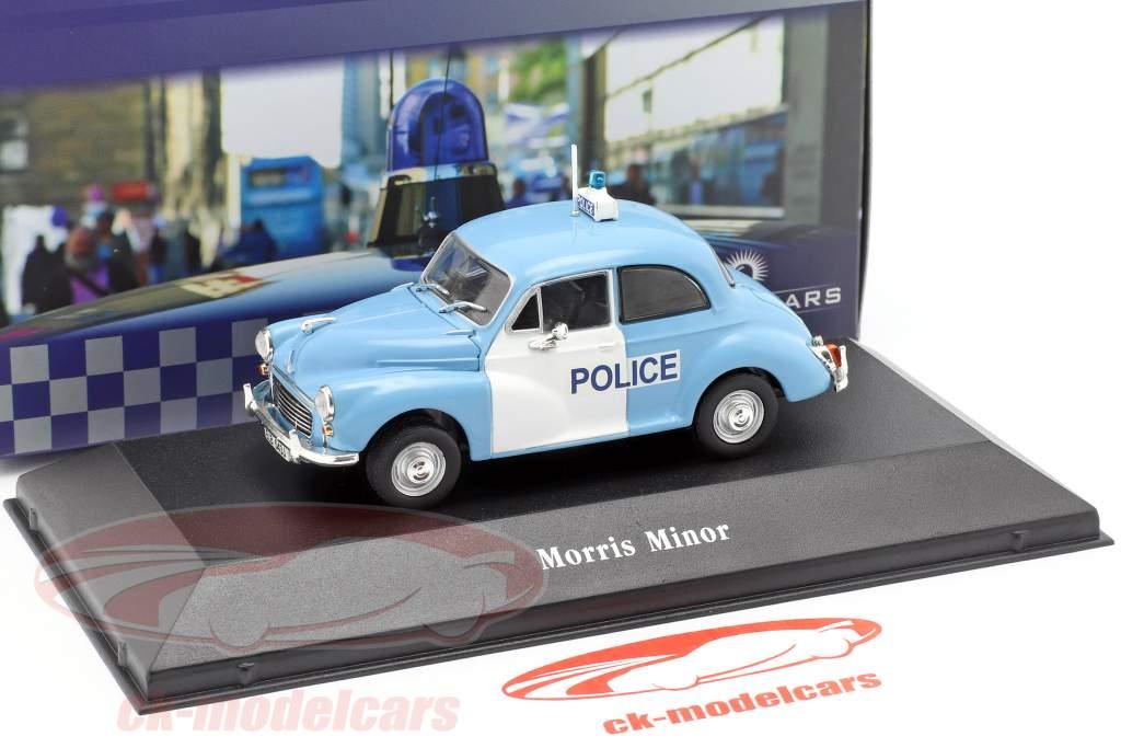 Morris Minor polícia United Kingdom ano de construção 1957 luz azul / branco 1:43 Atlas