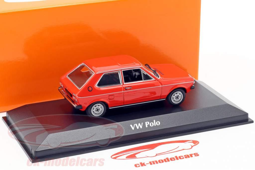 Volkswagen VW Polo Opførselsår 1979 rød 1:43 Minichamps
