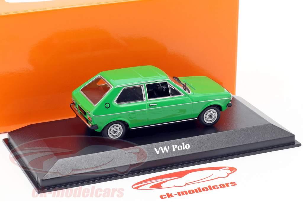 Volkswagen VW Polo ano de construção 1979 verde 1:43 Minichamps