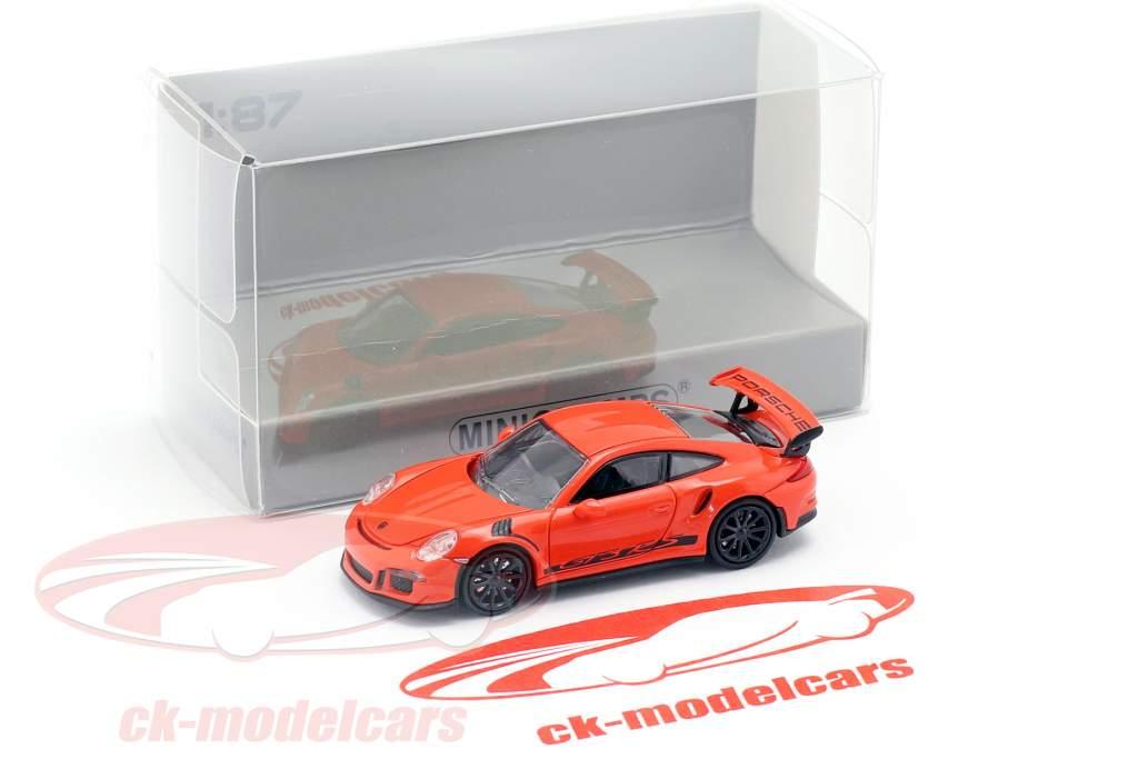 Porsche 911 (991) GT3 RS année de construction 2013 lave orange / noir 1:87 Minichamps
