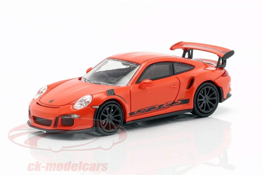 Porsche 911 (991) GT3 RS Baujahr 2013 lava orange / schwarz 1:87 Minichamps