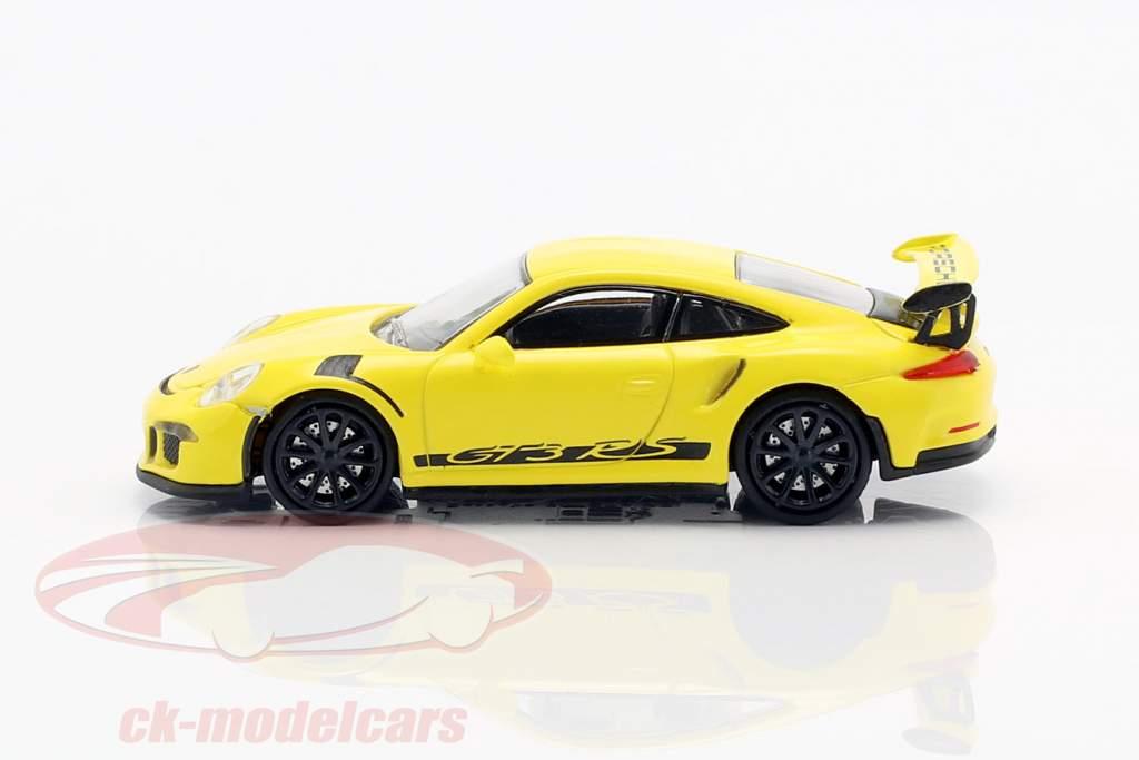 Porsche 911 (991) GT3 RS année de construction 2013 courses jaune / noir 1:87 Minichamps