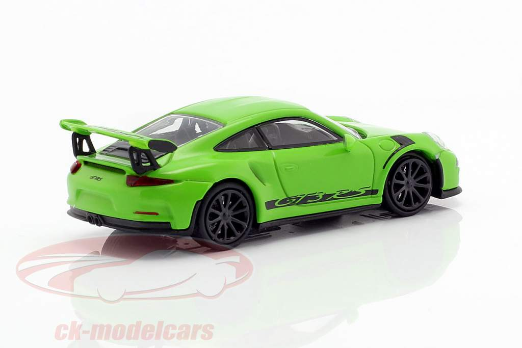 Porsche 911 (991) GT3 RS year 2013 yellow green / black 1:87 Minichamps