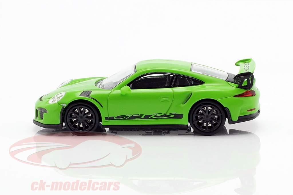 Porsche 911 (991) GT3 RS anno di costruzione 2013 giallo verde / nero 1:87 Minichamps