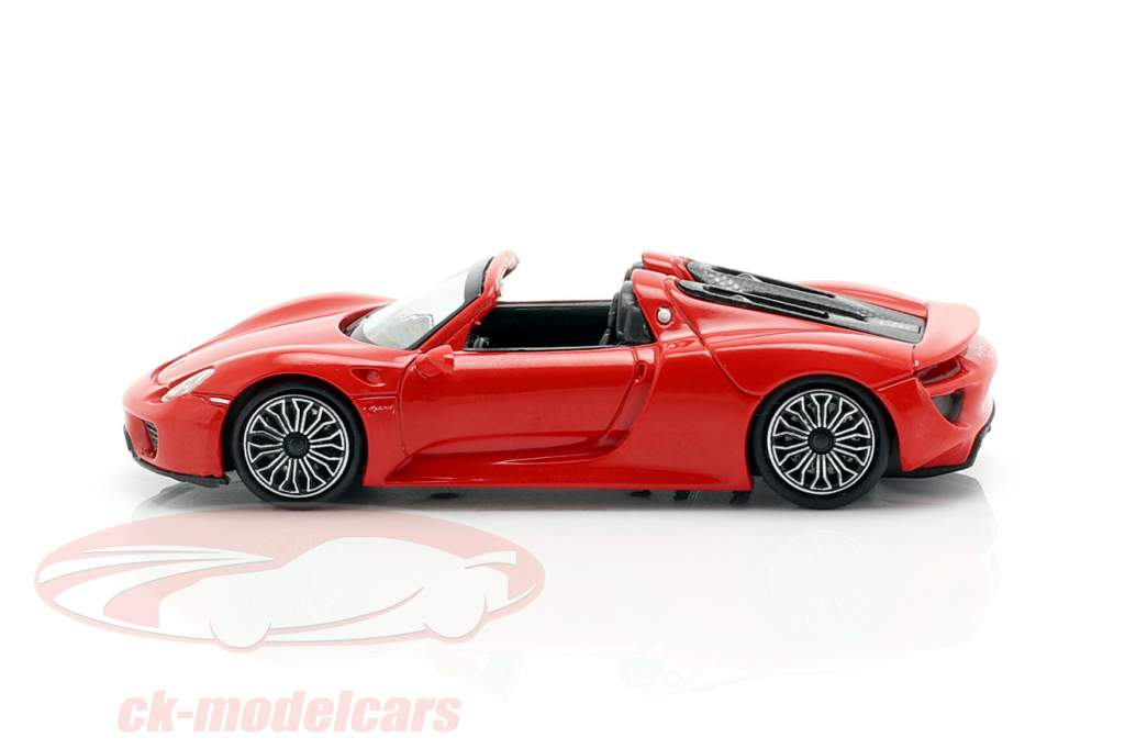 Porsche 918 Spyder year 2013 red 1:87 Minichamps