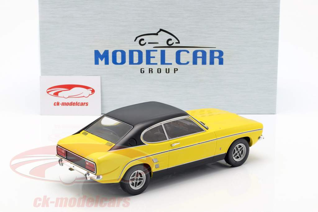 Ford Capri MK I año de construcción 1973 amarillo / negro 1:18 Model Car Group
