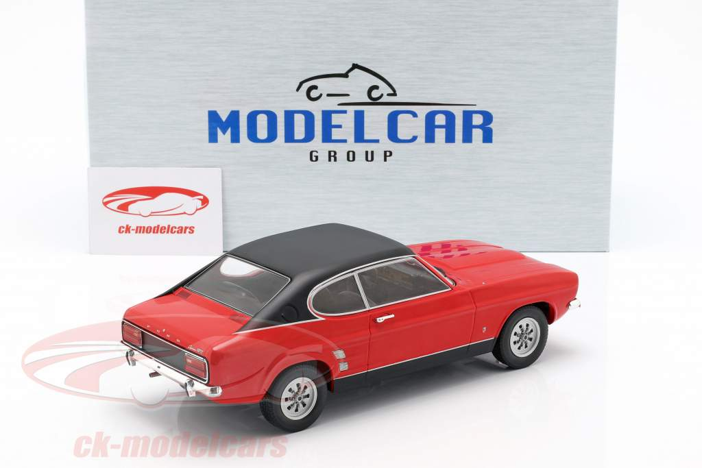 Ford Capri MK I année de construction 1973 rouge / noir 1:18 Model Car Group