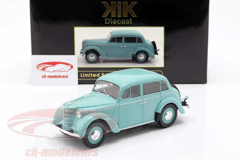 Opel Kadett K38 Baujahr 1938 hellblau 1:18 KK-Scale