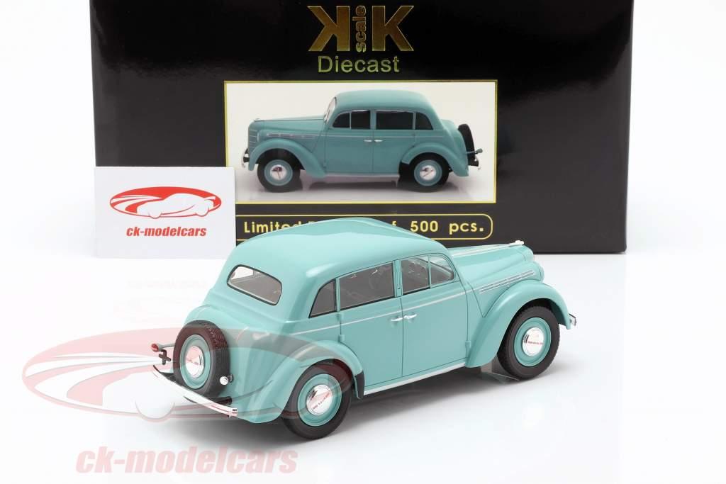 Opel Kadett K38 Bouwjaar 1938 lichtblauw 1:18 KK-Scale
