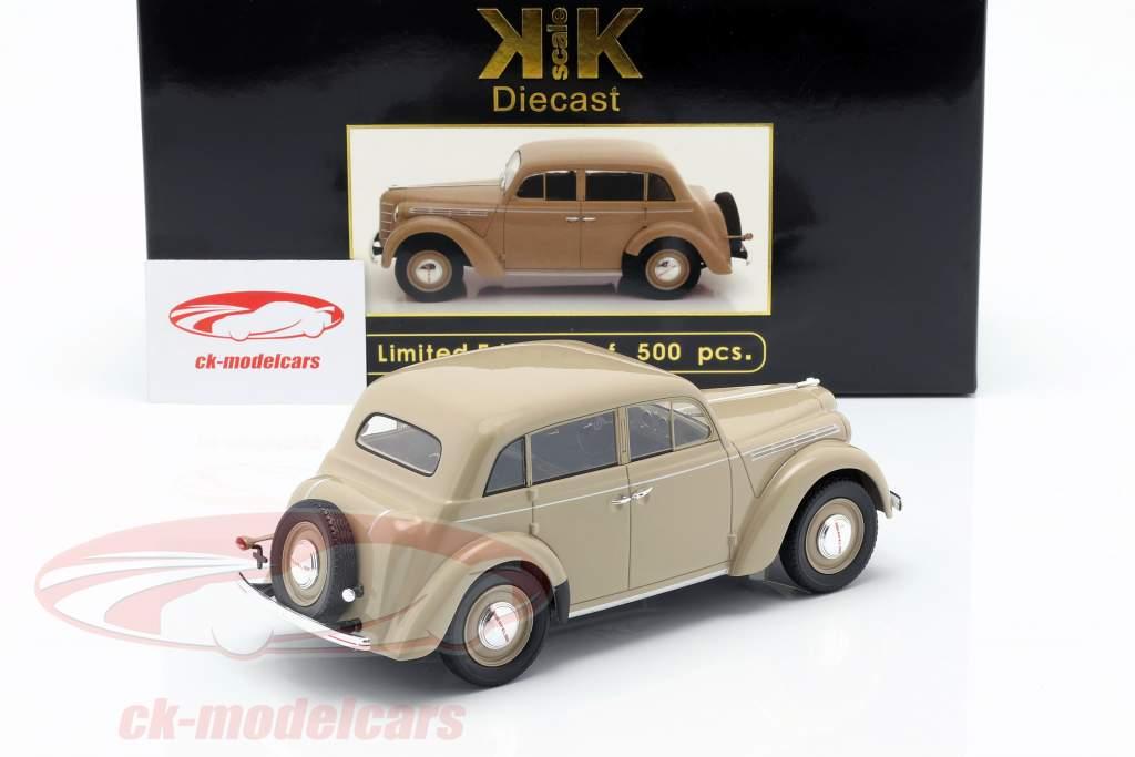 Opel Kadett K38 Bouwjaar 1938 bruinen 1:18 KK-Scale