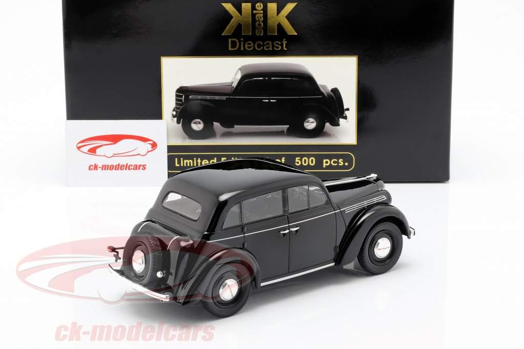 Opel Kadett K38 year 1938 black 1:18 KK-Scale
