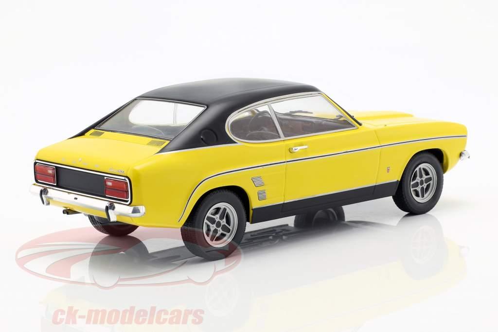 Ford Capri MK I Baujahr 1973 gelb / schwarz 1:18 Model Car Group