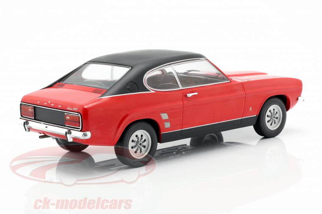 Ford Capri MK I Baujahr 1973 rot / schwarz 1:18 Model Car Group