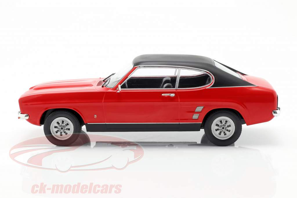 Ford Capri MK I año de construcción 1973 rojo / negro 1:18 Model Car Group