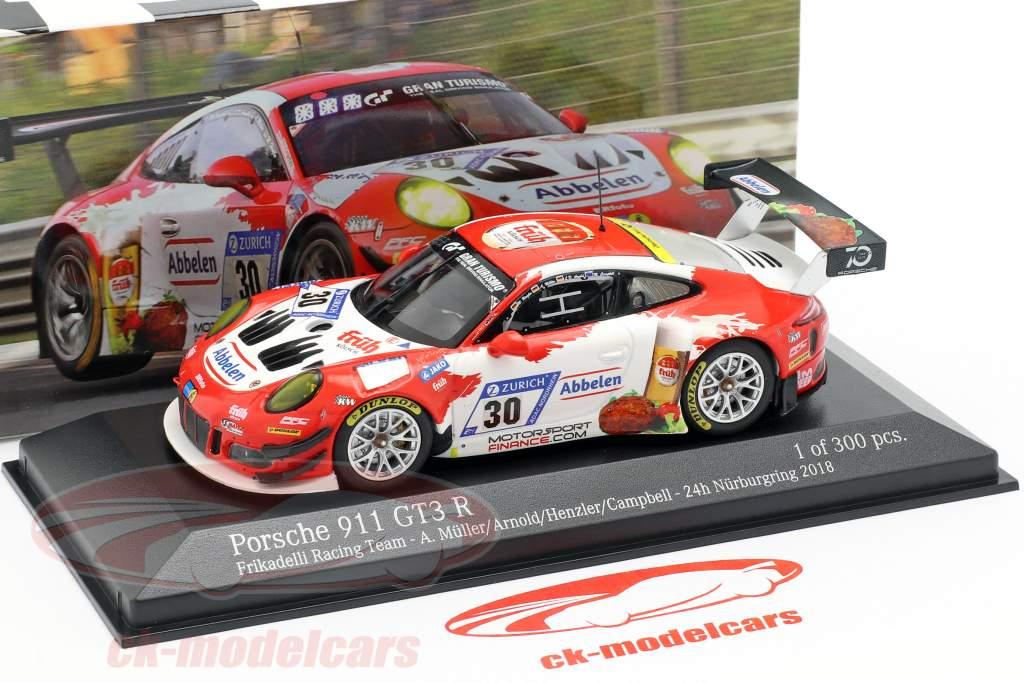 Porsche 911 (991) GT3 R #30 24h Nürburgring 2018 Frikadelli Racing 1:43 Minichamps