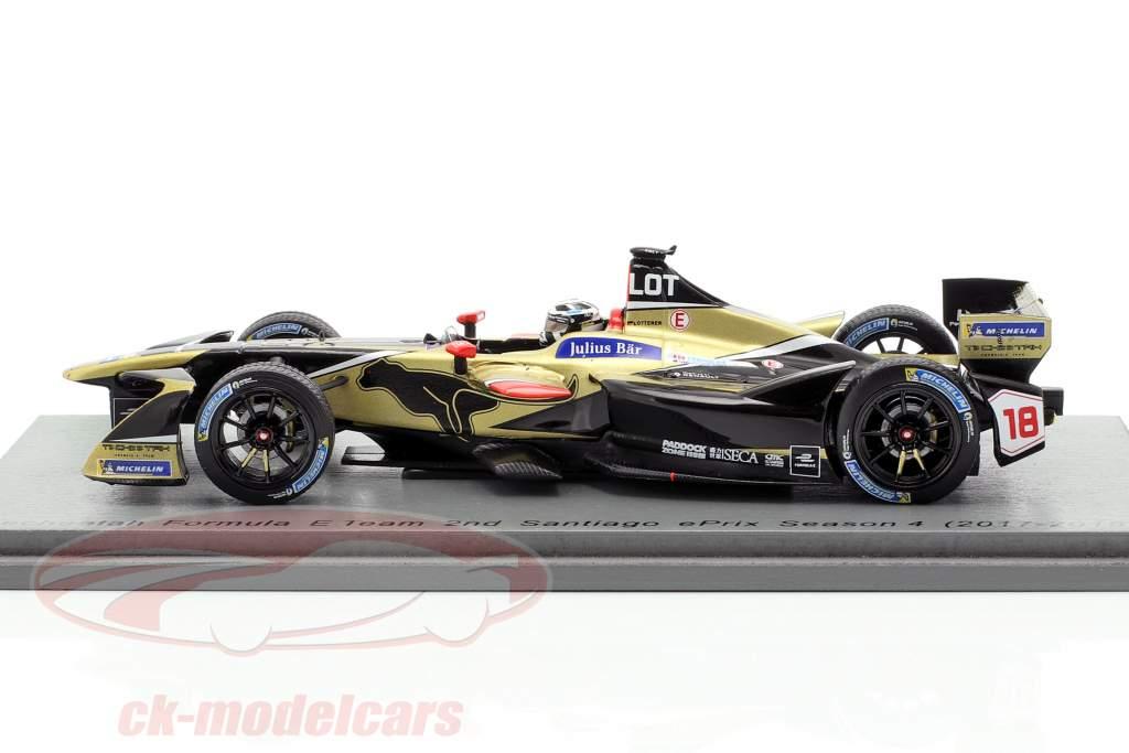 Andre Lotterer Renault Z.E.17 #18 2e Santiago ePrix formule E 2017/18 1:43 Spark