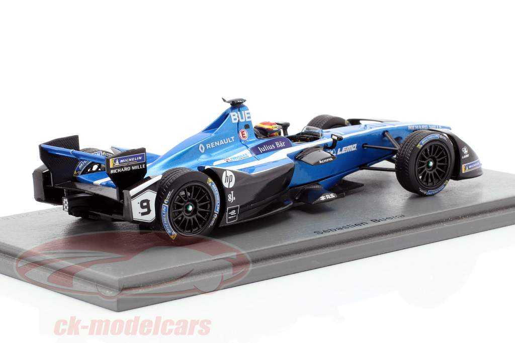 S. Buemi Renault Z.E.17 #9 2º Marrakech ePrix fórmula E 2017/18 1:43 Spark