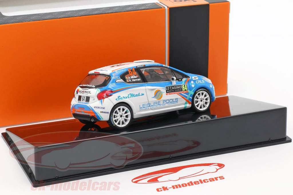 Peugeot 208 R2 #64 Rallye Monte Carlo 2018 Molle, Herman 1:43 Ixo