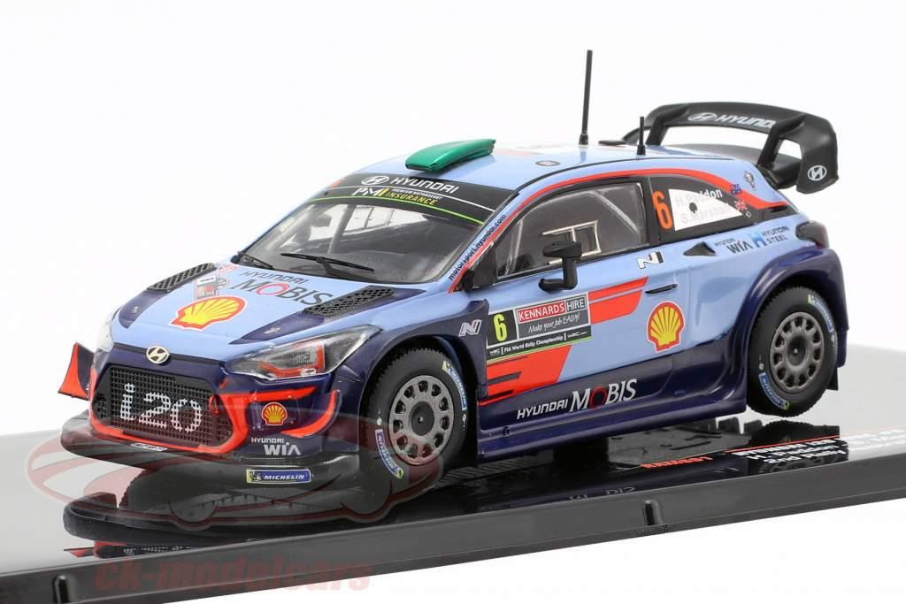 Hyundai i20 WRC #6 segundo Rallye Australia 2018 Paddon, Marshall 1:43 Ixo
