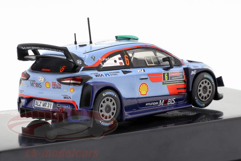 Hyundai i20 WRC #6 2º Rallye Austrália 2018 Paddon, Marshall 1:43 Ixo