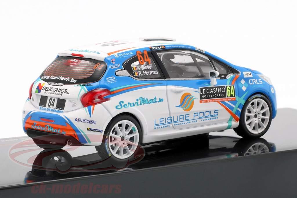 Peugeot 208 R2 #64 Rally Monte Carlo 2018 Molle, Herman 1:43 Ixo
