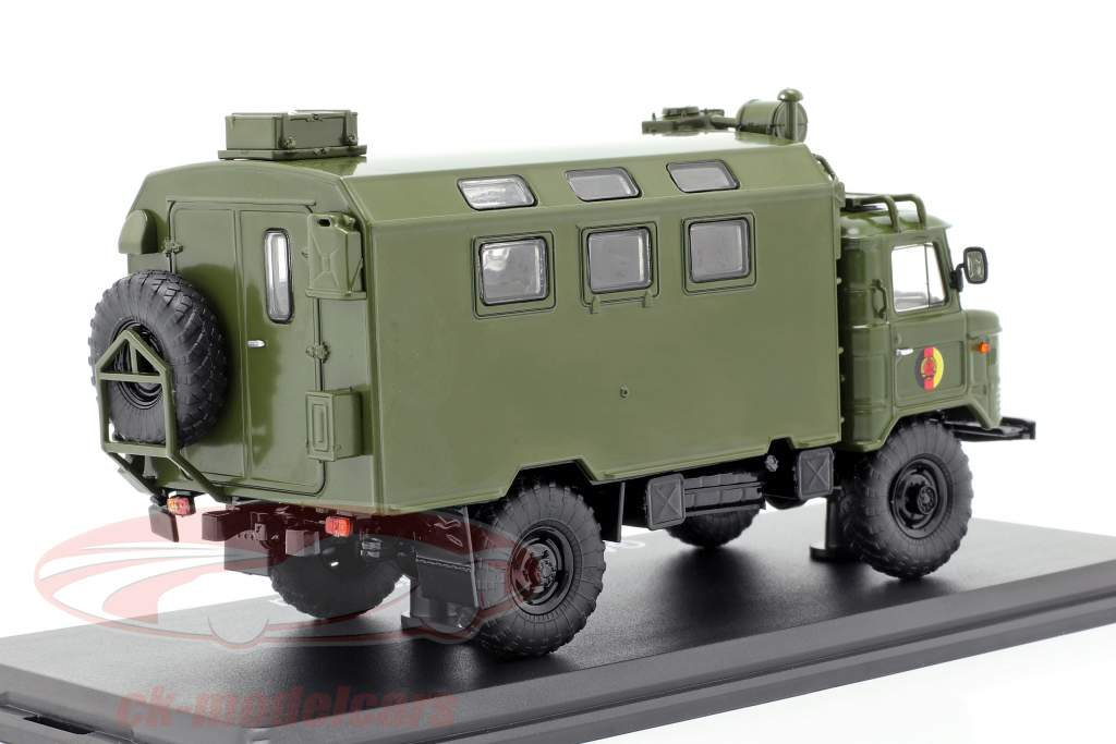 GAZ 66 Kofferaufbau NVA lastbil militært køretøj mørk oliven 1:43 Premium ClassiXXs